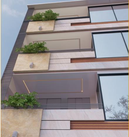 طراحی نمای ساختمان شهرکرد