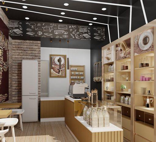 طراحی فروشگاه قهوه