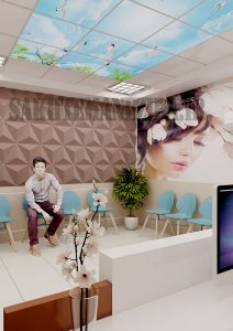 طراحی داخلی مطب زیبایی