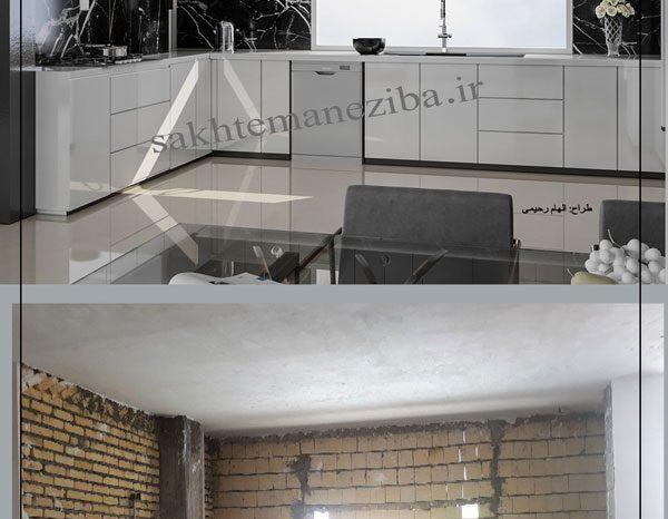 قبل و بعد طراحی آشپزخانه