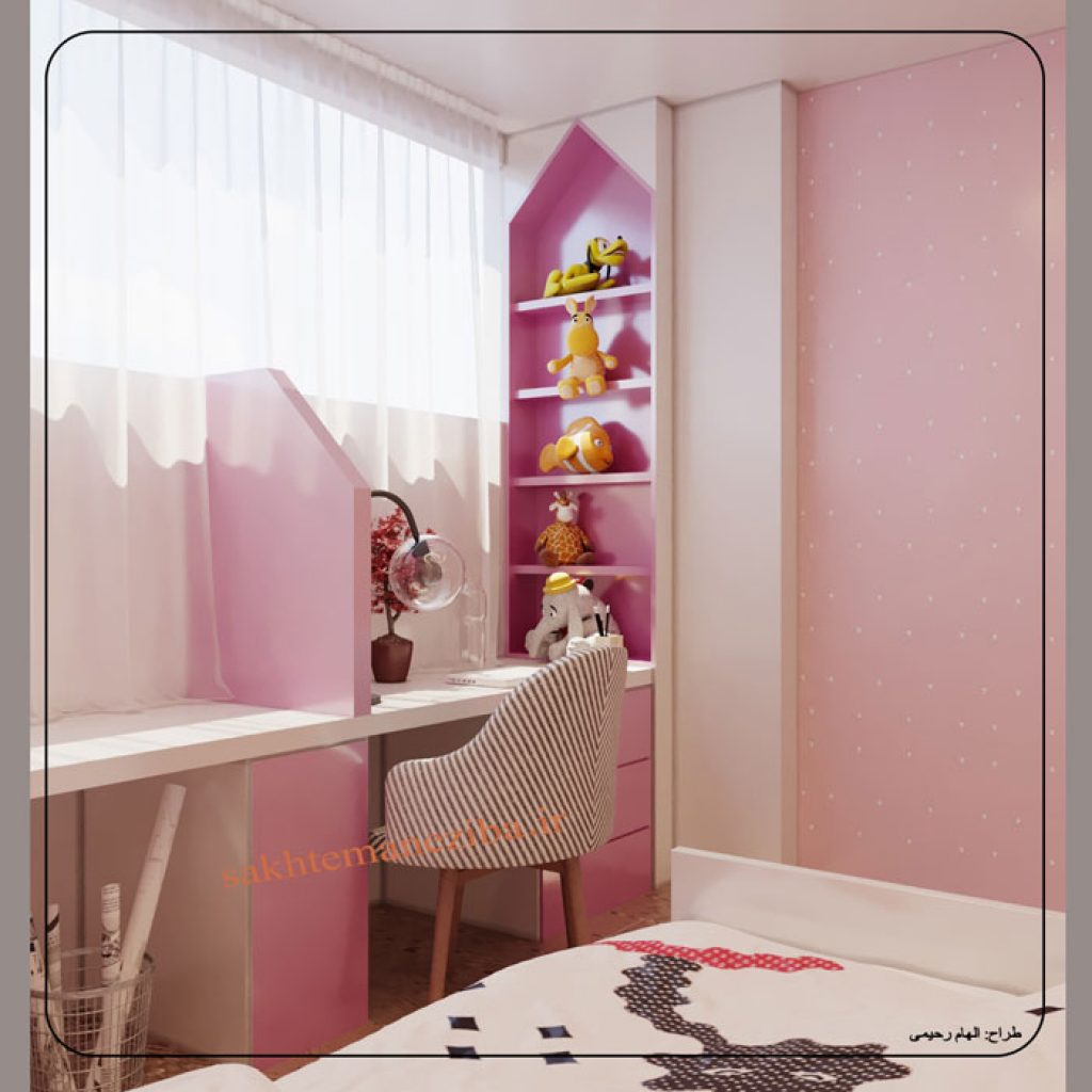 طراحی اتاق دخترانه
